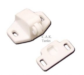 SINGLE ROLLER CATCH - WHITE